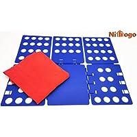 BoxLegend Doblador de Ropa Placa Ayuda para Plegar la Ropa 57 70 cm Camisetas Tablero para Plegar Camisas Negro Tabla para Doblar la Ropa