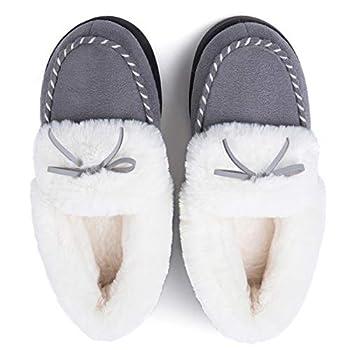 RockDove Women s Trapper Moc Memory Foam Slipper Size 9.5-10.5 US Women Dove Grey
