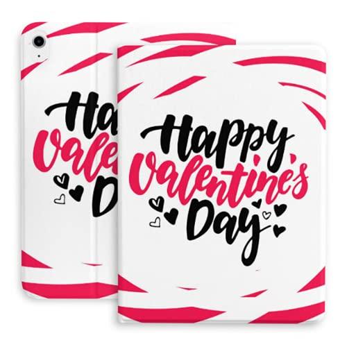 Funda para iPad Air 4th Generation Happy Valentine S Day Lettering Vector Aislado Funda para iPad Air 4 (10.9 Pulgadas, 2020) / iPad Pro 11'2018 con portalápices, Soporte Triple Funda Inteligente co