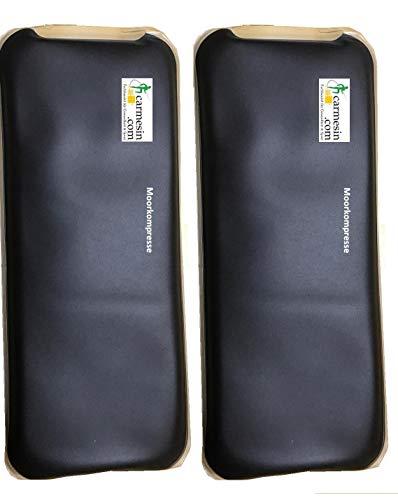 Carmesin.com Moor-kompresse -2 Stück- 12 x 29 cm - Moor-kissen Moor-packung Fango