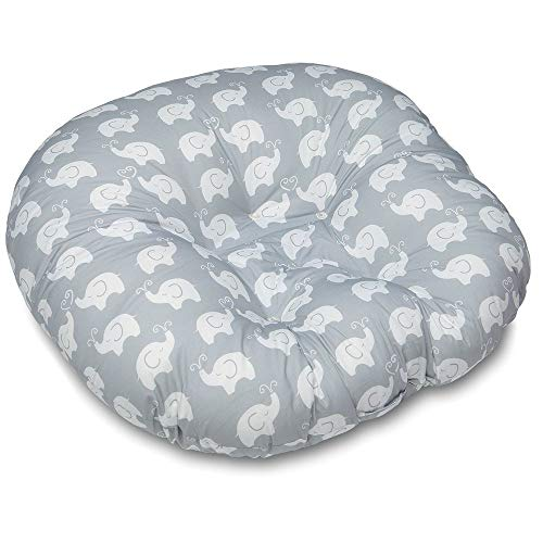 Best Prices! BoppyA Newborn Lounger, Elephant Love Gray Design