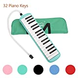 Glarry 32 Key Melodica Musical Instrument for Music Lovers Gift with Two mouthpieces and C...
