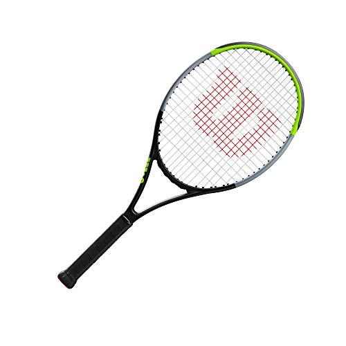 Wilson Blade V7.0 RKT 26, Tennis Performance Racket Unisex-Youth, Black/Limegreen/Silver
