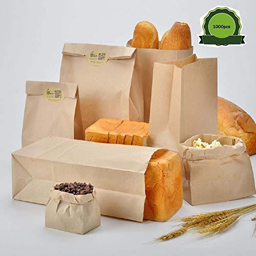ZHIHEHE Kraft papieren zak, broodzak West Point bakzak, milieu voedsel verpakking zak toast zak bulk aankoop 1000, vele specificaties