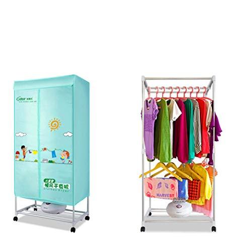 Sécheuse sécheuse maison séchage rapide vêtements bébé spécial double couche d'économie d'énergie à air chaud machine de séchage silencieux chauffage multifonction