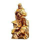 YUXINYAN Buda Decoracion Guan yu Escultura Madera Tallado Buddha hogar decoración Decoración Feng Shui