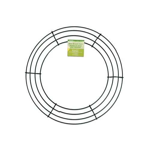 FloraCraft Wire Wreath Form 12 Inch Green