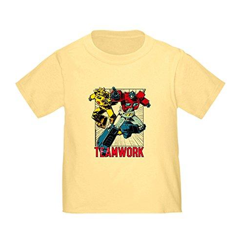 CafePress Transformers Teamwork Toddler T Shirt Cute Toddler T-Shirt, 100% Cotton Daffodil Yellow