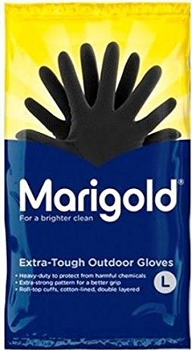 Ringelblume FH850756Outdoor-Handschuhe, sehr strapazierfähig, 1Paar, Größe 8/M, Schwarz