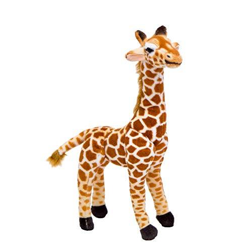 Knuffel, Klein Formaat Giraf Knuffels Schattig Knuffeldier Zachte Giraf Pop Verjaardagscadeau Kinderen Speelgoed 35cm bruin