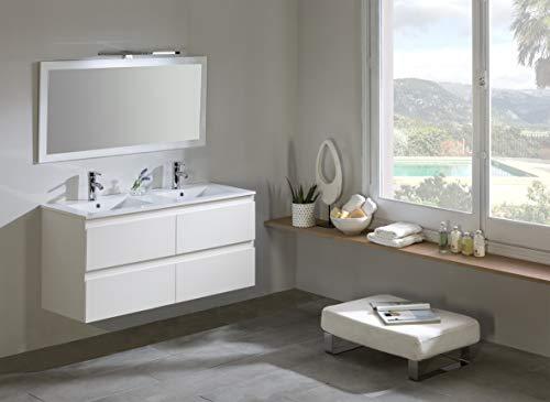 Modulintel Conjunto de baño, Melamina, Blanco, 120 cm
