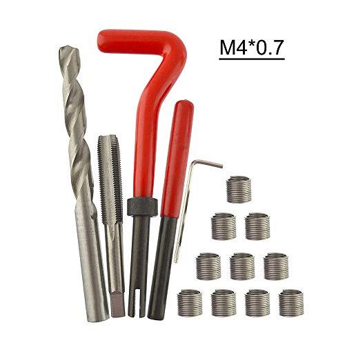 KKmoon 15 Stücke Gewinde Repair Set Werkzeug Helicoil Reparatur Set M4 * 0,7