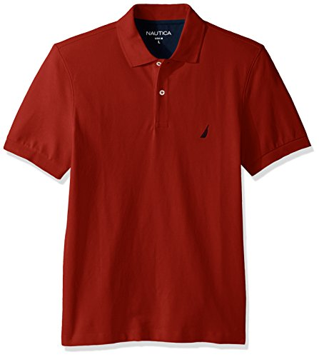 Nautica Men's Solid Polo Shirt, Red, XX-Large
