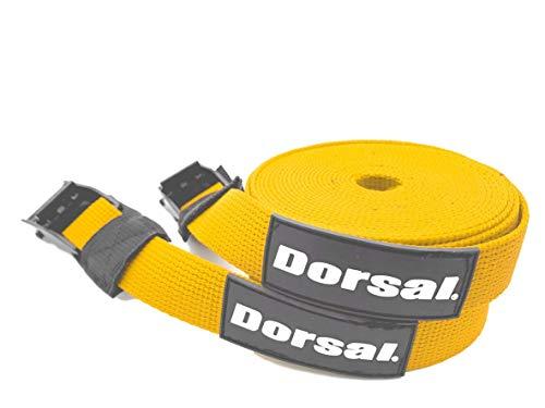 DORSAL Surfboard Kajak SUP Surf Dachträger Spanngurte 4,6 m (2), ST200-37-76-0051-935, gelb