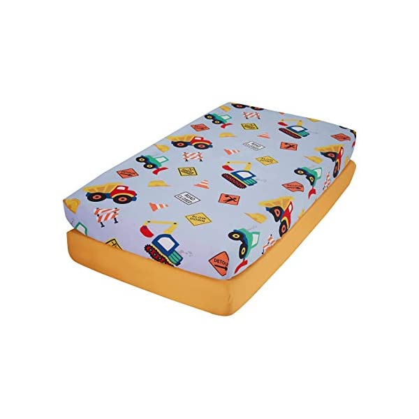 EVERYDAY KIDS Fitted Crib Sheet, 100% Soft Microfiber, Breathable and Hypoallergenic Baby Sheet, Fits Standard Size Crib Mattress 28in x 52in, Nursery Sheet