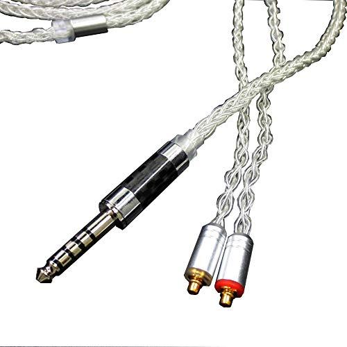 Generis MMCX Ausgewogen Kabel Kopfhörer Aktualisierung Ersetzt Kabel 4,4mm für Shure SE215 SE315 SE425 SE535 SE846 Logitech UE900 Weiß