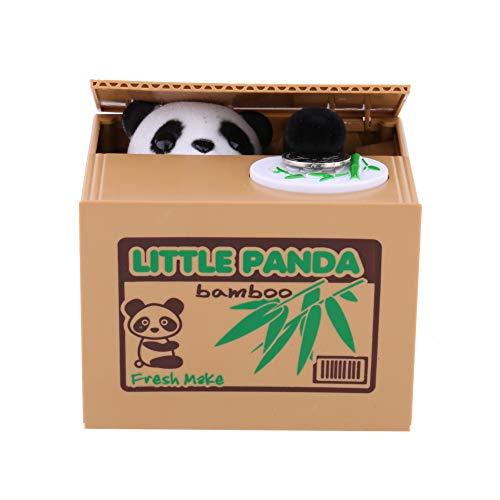 Estink Hucha de Gato Encantadora, Gato Electrónico Que Comerá Dinero, Hucha Divertida de Gato Que Roba Dinero, Juguete de niños, Regalo Original (Little Panda)