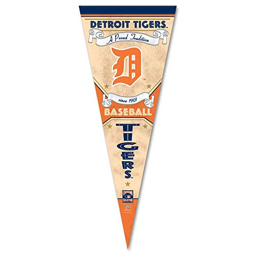 Bek Brands Baseball Teams Special Edition Fahne Wimpel, 30,5 x 76,2 cm, Cooperstown Detroit Tigers