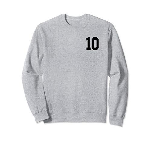 Fanof 10 Baseball Basketball Softball Fußball Fußballspieler Sweatshirt