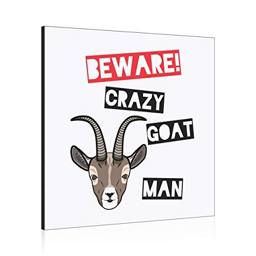 Beware Loco Cabra Hombre Decoración de Pared Panel Marco de Fotos