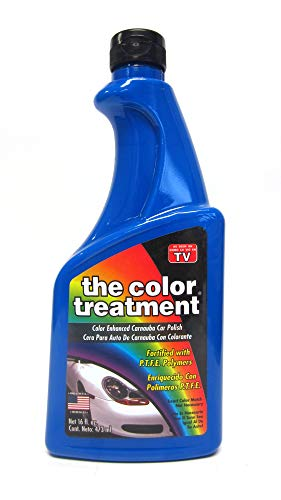 El Color Tratamiento Color Azul Mejorado Coche Cera 16oz Quitar Marcas de Arañazos 16oz Azul