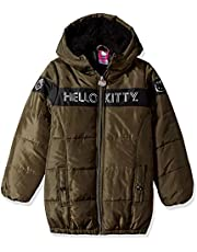 Hello Kitty Girls Puffer Jacket with Hood
