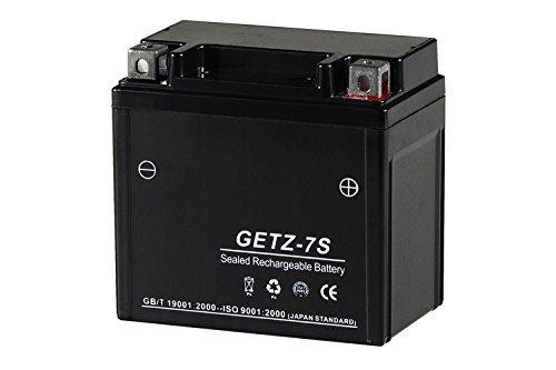 シールド式 ジェル バイクバッテリー GETZ-7S 【TZ7 YTZ-7S FTZ-7S 互換】 Dio.Z4/AF57/HORNET250(03~)/ZOOMER(ズーマー) TZ7