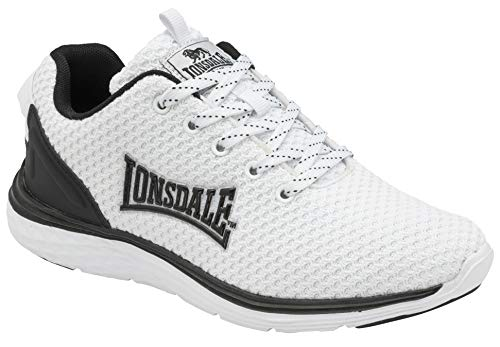 Lonsdale Silwick, Scarpe per Jogging su Strada Uomo, Bianco e Nero, 43 EU