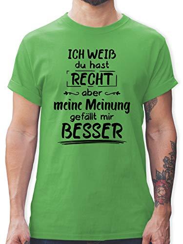 Sprüche - Meine Meinung gefällt Mir Besser - L - Grün - witzige Shirts Herren - L190 - Tshirt Herren und Männer T-Shirts