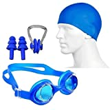 Egab 4 in 1 Combo Swimming Kit for Goggle Cap Nose Plug