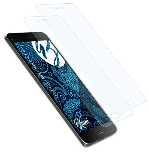 Bruni Película Protectora Compatible con Xiaomi Mi5 / Mi5 Pro Front Protector Película, Claro Lámina Protectora (2X)