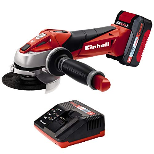 Einhell Expert Amoladora TE-AG 18/115 Li Kit Power X-Change, Li-Ion, 18 V, incluida...
