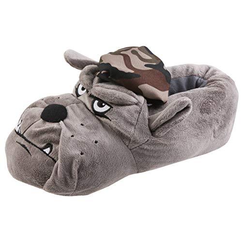 Tierhausschuhe Hausschuhe Hund Army, Grau, 43/44, TH-Bag