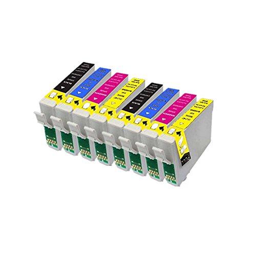 8ECS Compatible cartucho de tinta reemplazar T0551T0552T0553T0554para impresoras Epson Stylus Photo R240R245RX420RX425RX520