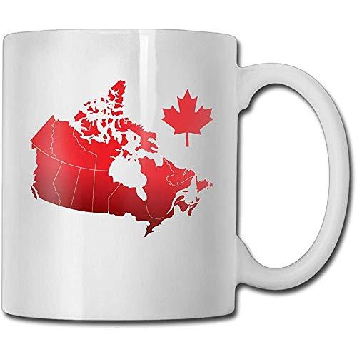 Taza de café de cerámica de arces de Canadá: taza de té blanco de la novedad