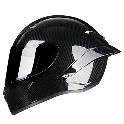 Casco de Motocicleta de Cara Completa de Fibra de Carbono Casco de Carreras Motocross Casco de Carretera