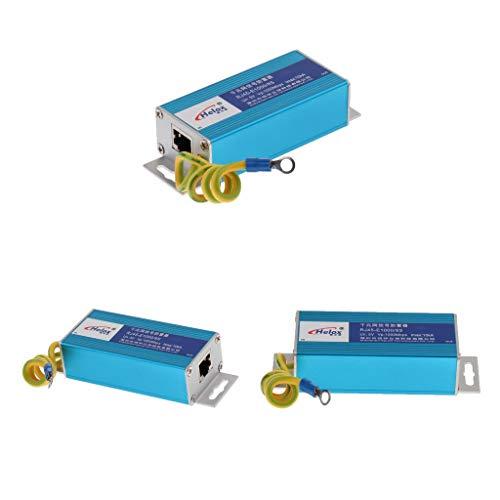 F Fityle RJ45 Überspannungsschutz Gerät RJ45-Anschluss Ethernet LAN Computer Netzwerk Überspannungsableiter (3 STK.)