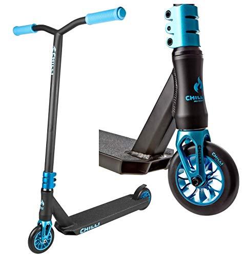 Chilli Pro Scooter Reaper Stunt-Scooter 110mm + Odi Barends + F26 Sticker (Wave Blau + Odi)