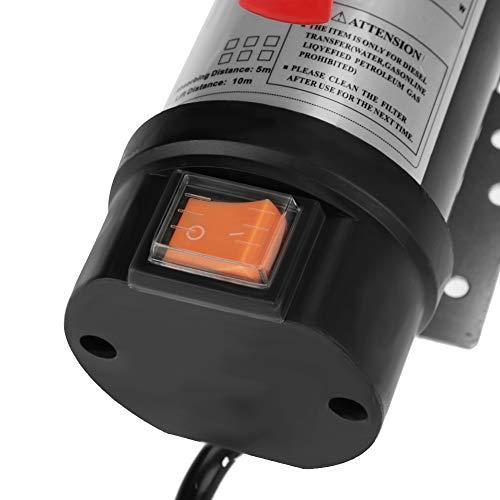 Transferencia de sifón de combustible diesel, extractor de aceite de bomba de cable de alimentación largo para excavadoras topadoras