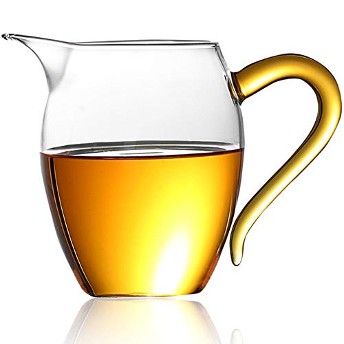 Mozentea Glas-Gong Dao Bei, chinesischer Gong Kung Fu Tee & Milchkrug Cha Hai Tee Fairness Tasse Teilen Krug 350 ml