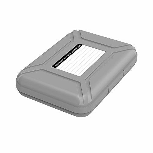 Yottamaster 3.5 Zoll Festplattentasche Schutzhülle für 3,5 Zoll Festplatten/Kameras/Tragbares Ladegerät/Digitale Geräte Staubdicht,Antistatisch-Grau
