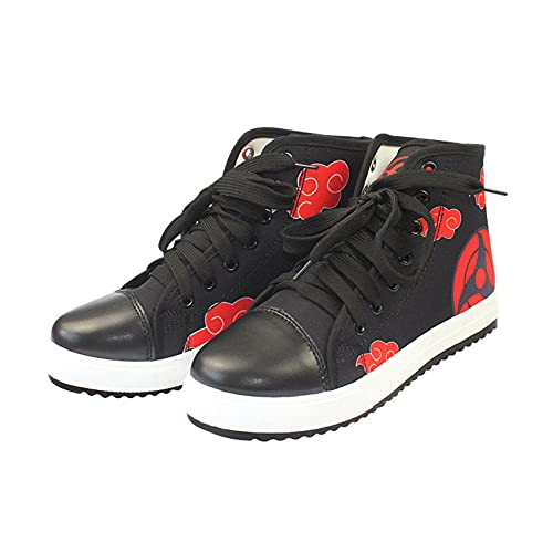 Desk Zapatos Deportivos Naruto Uchiha Itachi Anime Zapatos de Lona Cosplay Moda Casual Zapatos Deportivos Zapatos de Baloncesto Zapatillas 36-41