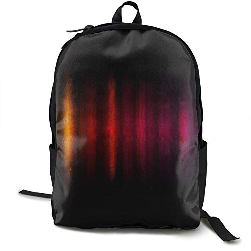 HGHGH Line-Colorful-Patten-I Lightweight Classic Backpack, Large Capacity School Computer Bag Unisex