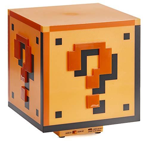 trendaffe ® PP2929NN Super Mario Tischlampe Fragezeichen-Block, Mehrfarbig