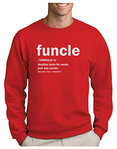Green Turtle Sudadera para Hombre - Regalo para mi Tio - Funny Uncle Funcle Definition Gift For Uncles Large Rojo