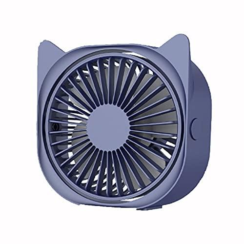 HIOD Mini Ventilador USB Herramientas de Refrigeración de Verano Mini Ventilador de Escritorio Ángulo de 360 Grados Ventilador Eléctrico Portátil Ajustable 3 Velocidades de Viento,Blue
