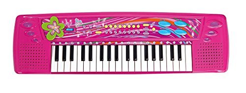 Simba 106832624 - My Music World Girls Keyboard 62 cm