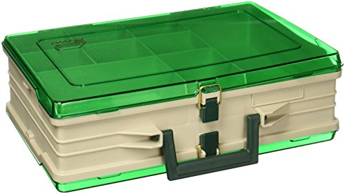 Plano Magnum Tackle Box Double Side Sandstone/Green 1119, Premium Tackle Storage,Multi