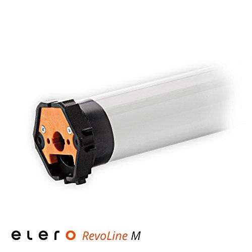 Elero RevoLine M Mechanischer Rohrmotor/Rolladenmotor VariEco M10 | 10Nm inkl. drei Hochschiebesicherungen (getestet von DIWARO), Motorlager. Anschlusskabel und SW 60 Adapter/Mitnehmer.
