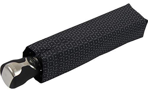 bugatti Regenschirm Gran Turismo Auf-Zu Automatik schwarz Gemustert